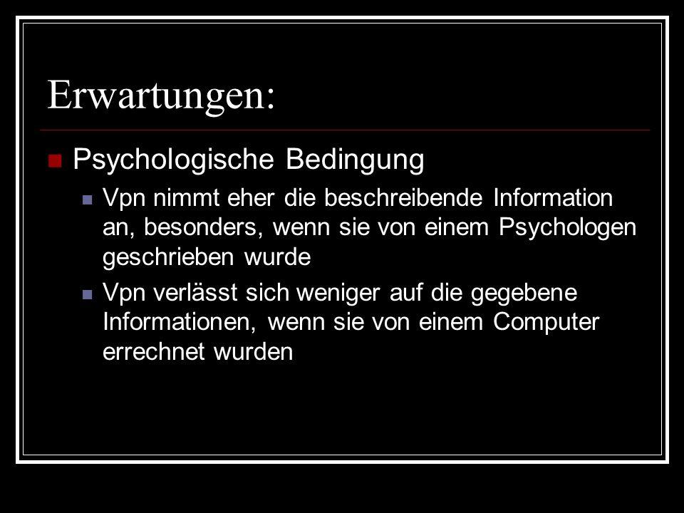 Erwartungen: Psychologische Bedingung