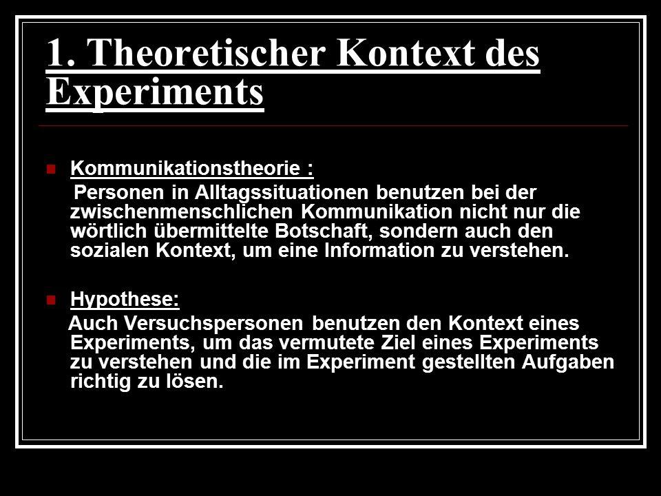 1. Theoretischer Kontext des Experiments