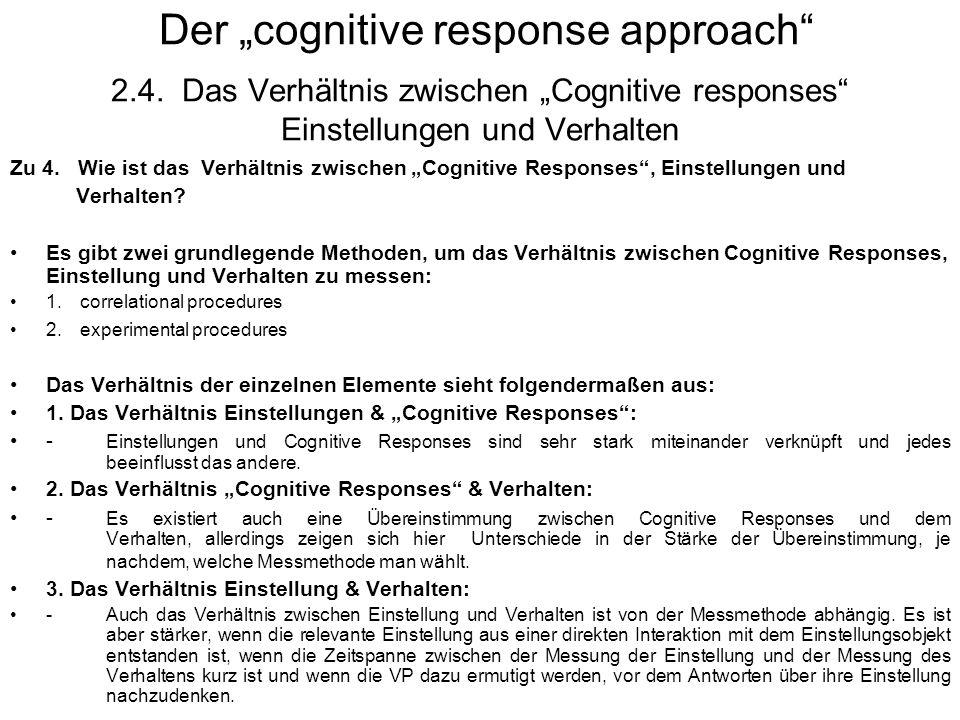 "Der ""cognitive response approach 2. 4"