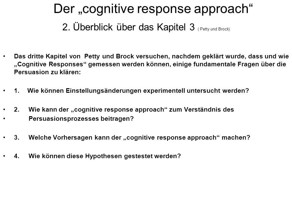"Der ""cognitive response approach 2"
