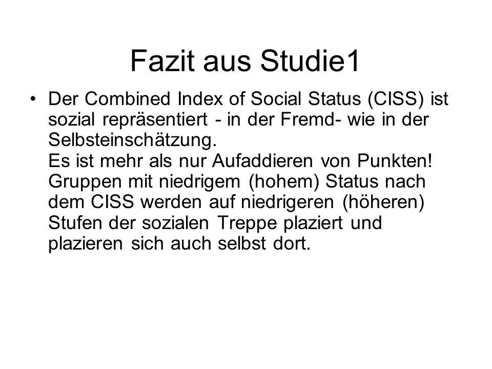 Fazit aus Studie1
