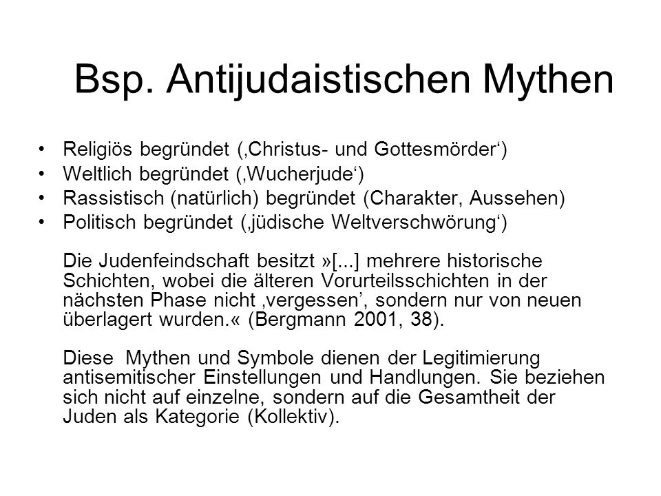 Bsp. Antijudaistischen Mythen