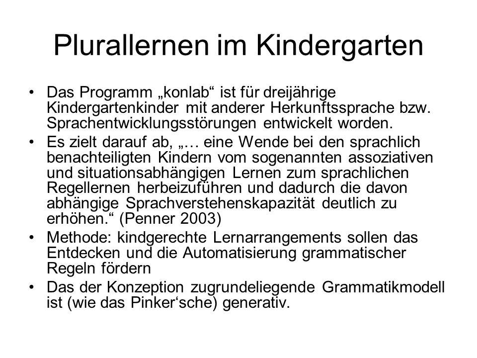 Plurallernen im Kindergarten