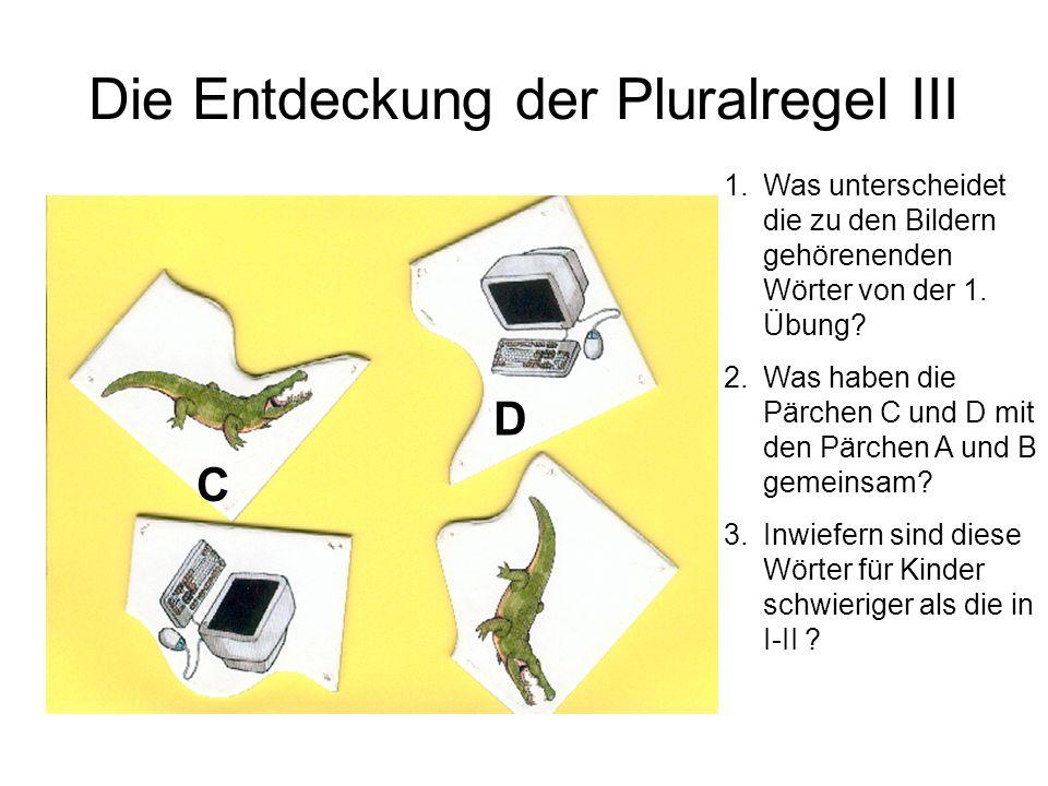 Die Entdeckung der Pluralregel III
