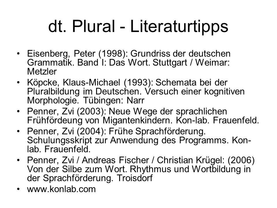 dt. Plural - Literaturtipps
