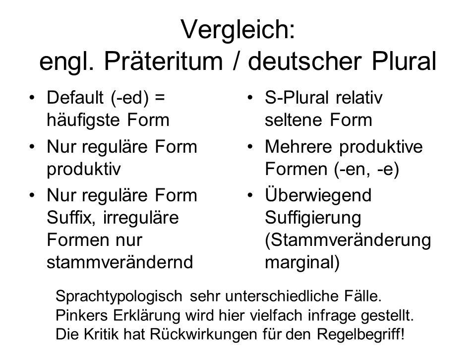 Vergleich: engl. Präteritum / deutscher Plural