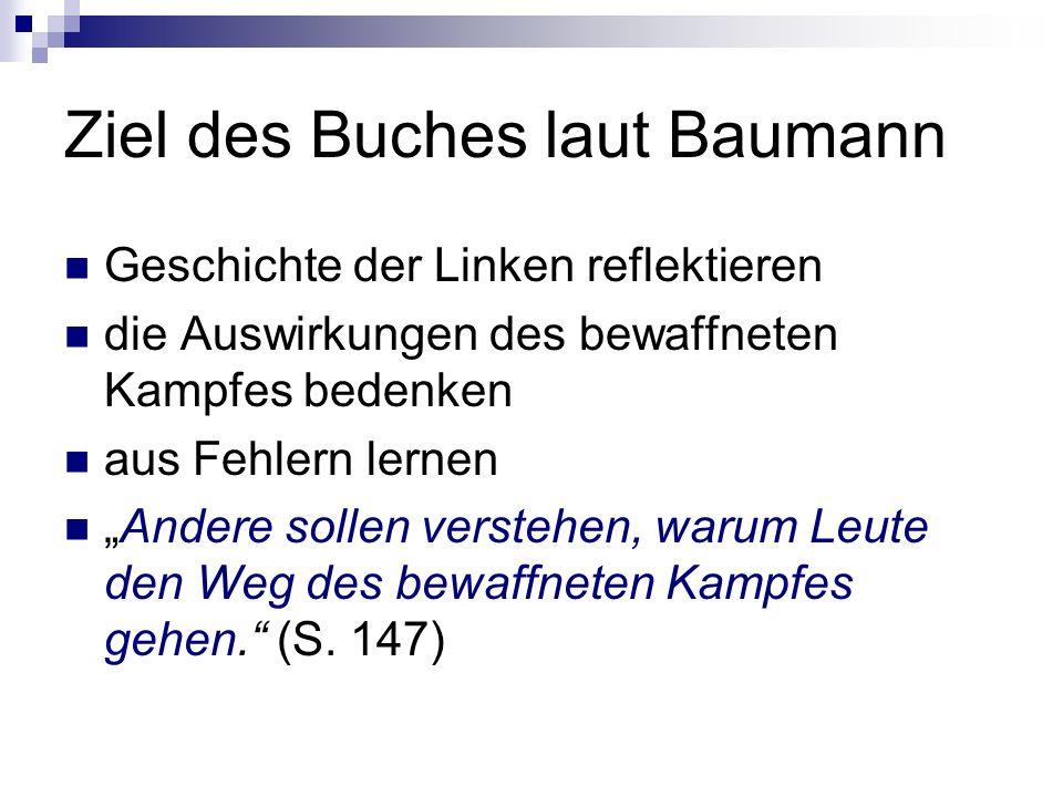 Ziel des Buches laut Baumann