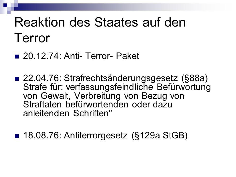 Reaktion des Staates auf den Terror