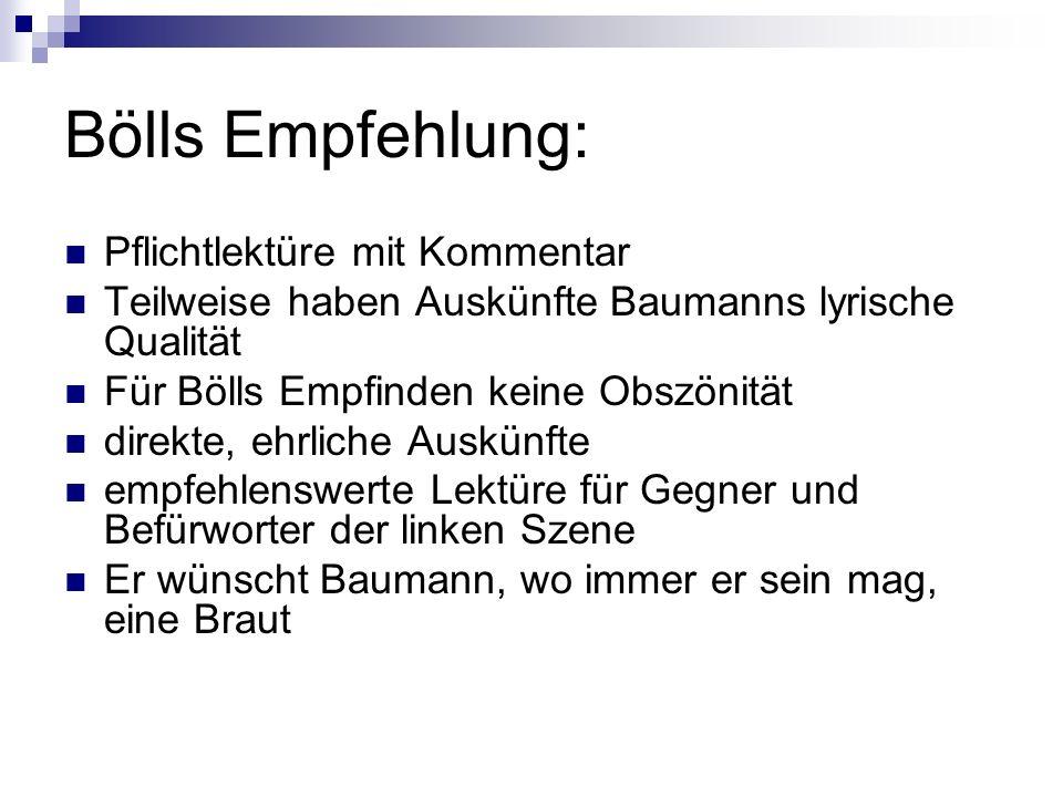 Bölls Empfehlung: Pflichtlektüre mit Kommentar