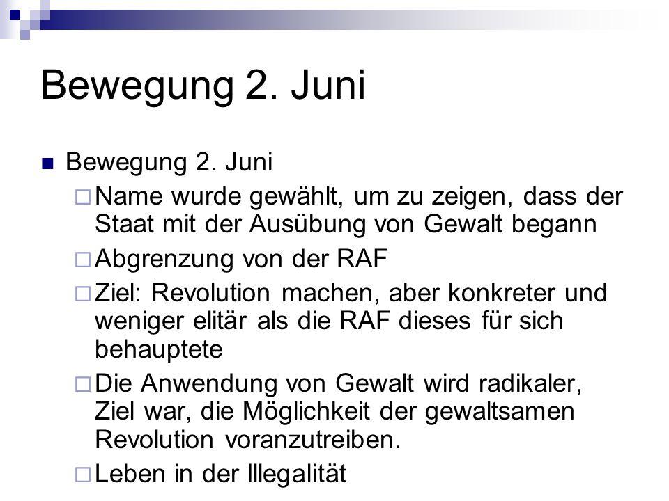 Bewegung 2. Juni Bewegung 2. Juni