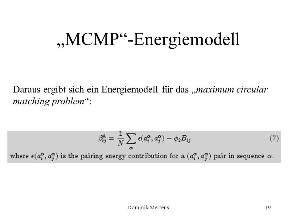 """MCMP -Energiemodell"