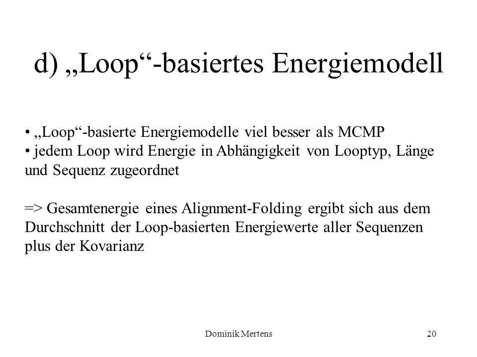 """d) """"Loop -basiertes Energiemodell"""