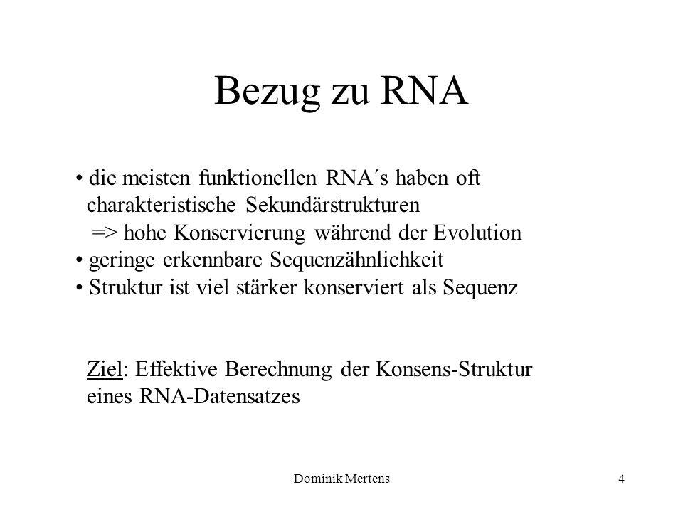Bezug zu RNA die meisten funktionellen RNA´s haben oft