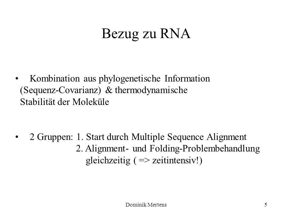 Bezug zu RNA Kombination aus phylogenetische Information