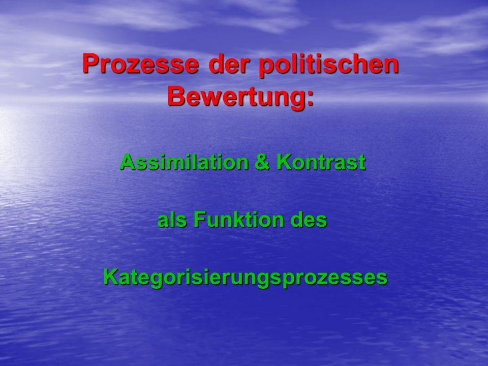 Prozesse der politischen Bewertung: