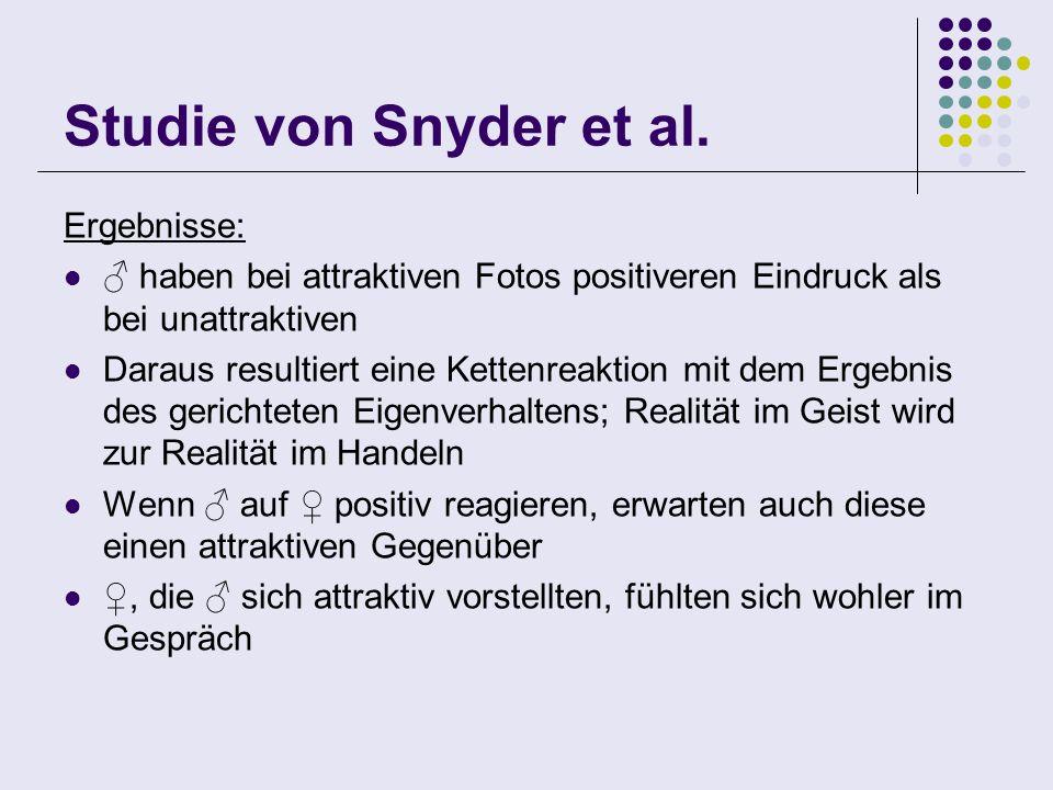 Studie von Snyder et al. Ergebnisse: