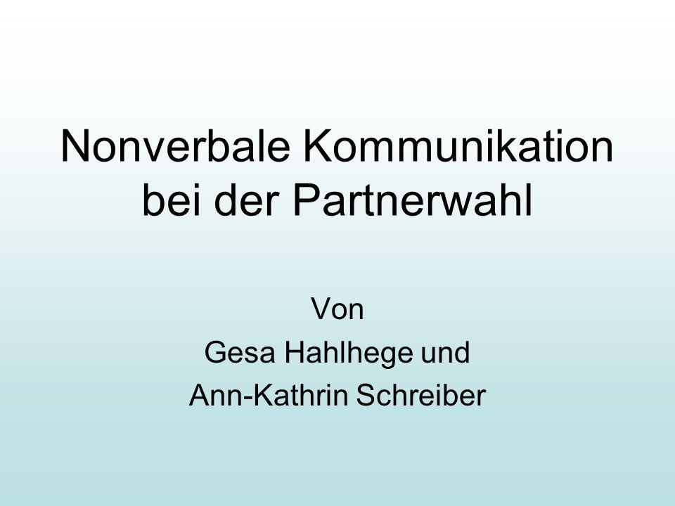 Nonverbale Kommunikation bei der Partnerwahl