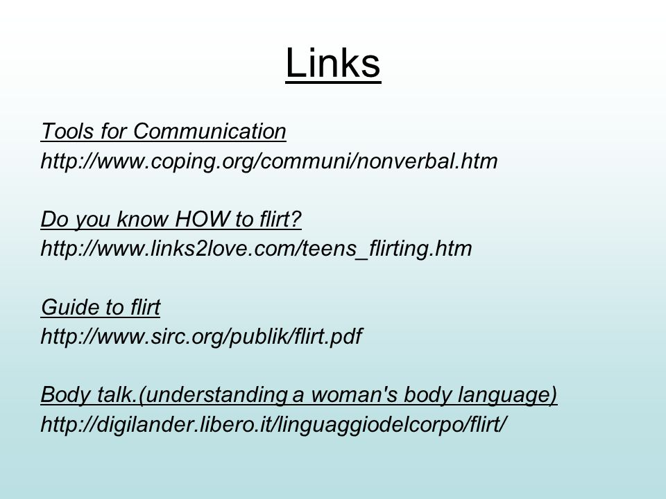 Links Tools for Communication