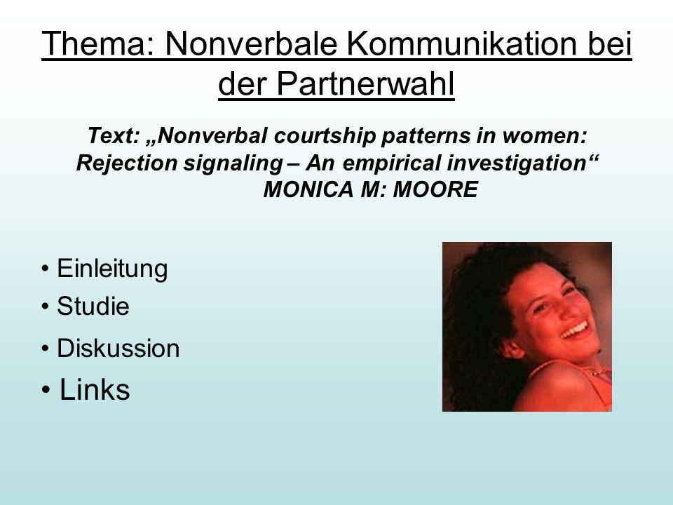 Thema: Nonverbale Kommunikation bei der Partnerwahl