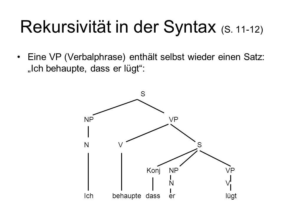 Rekursivität in der Syntax (S. 11-12)