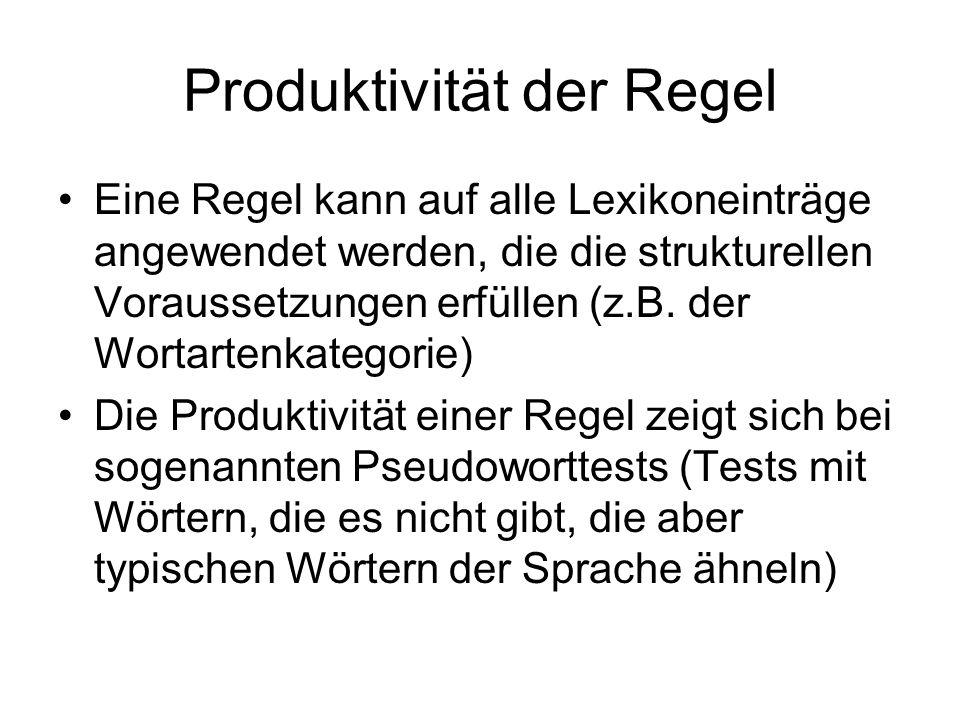 Produktivität der Regel