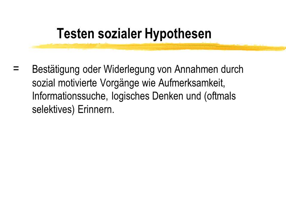 Testen sozialer Hypothesen