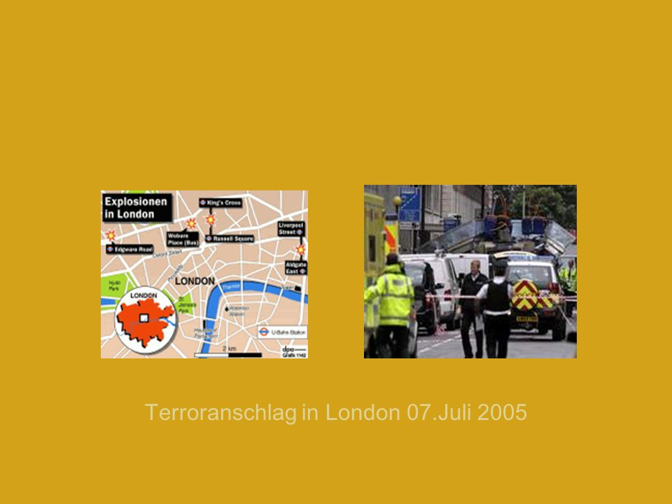 Terroranschlag in London 07.Juli 2005