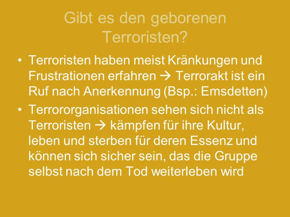 Gibt es den geborenen Terroristen