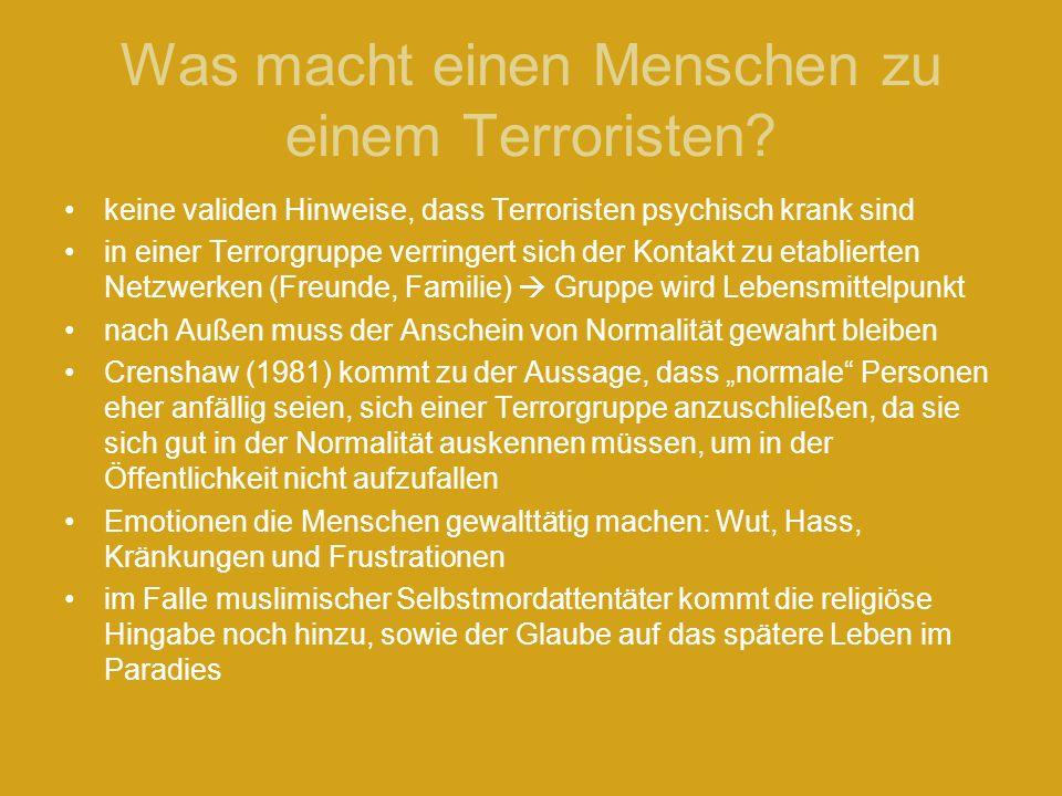 Was macht einen Menschen zu einem Terroristen