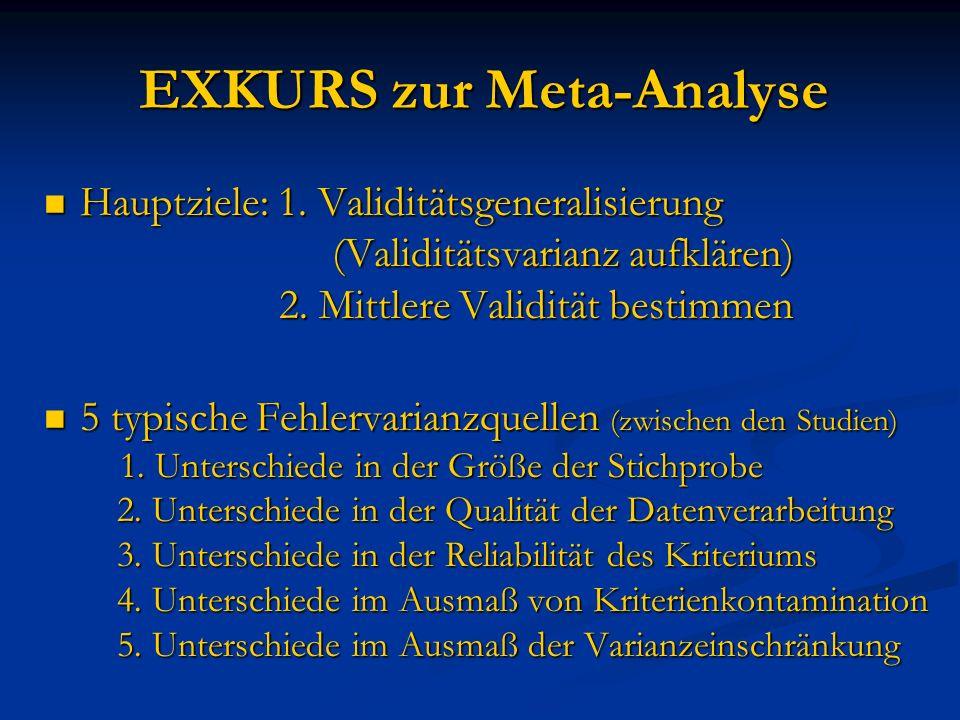 EXKURS zur Meta-Analyse