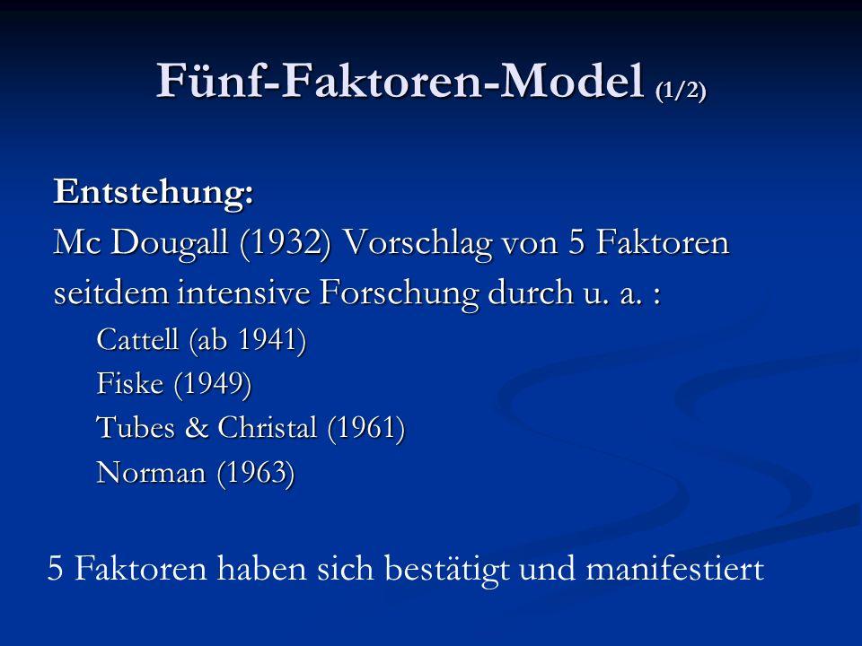Fünf-Faktoren-Model (1/2)