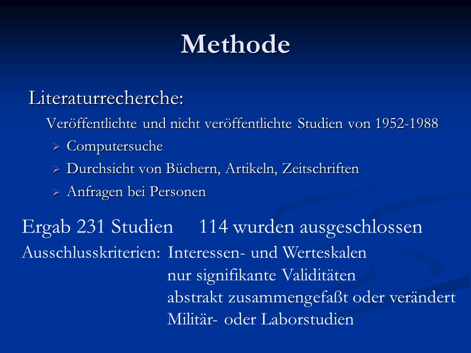 Methode Literaturrecherche: