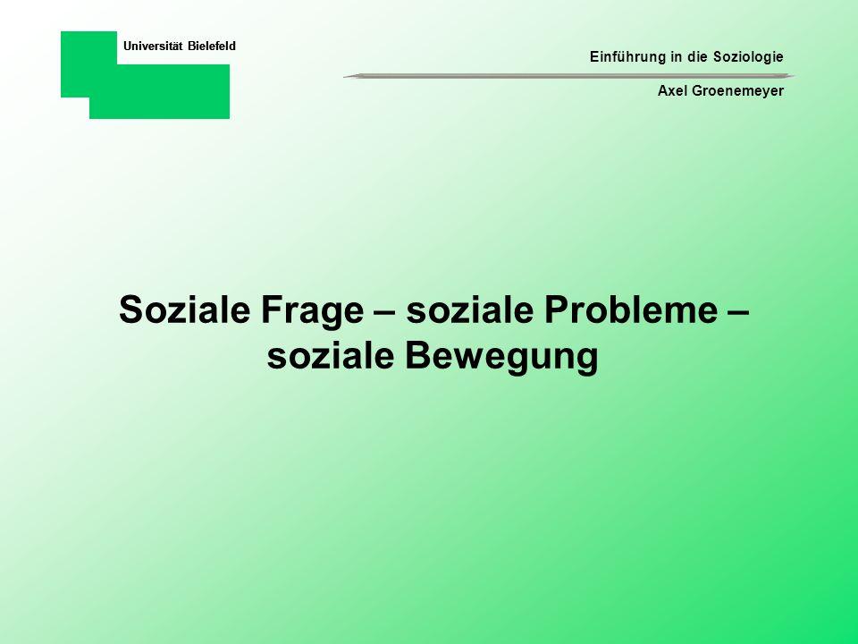 Soziale Frage – soziale Probleme – soziale Bewegung