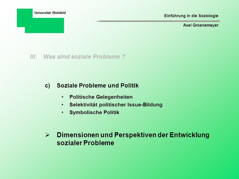Dimensionen und Perspektiven der Entwicklung sozialer Probleme