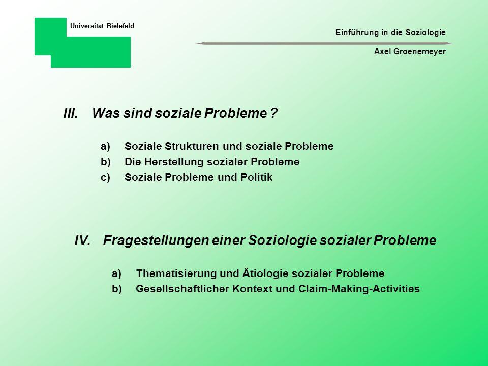 Was sind soziale Probleme