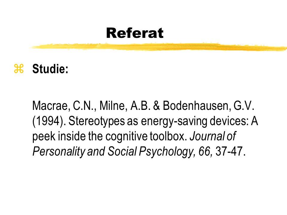 Referat Studie: