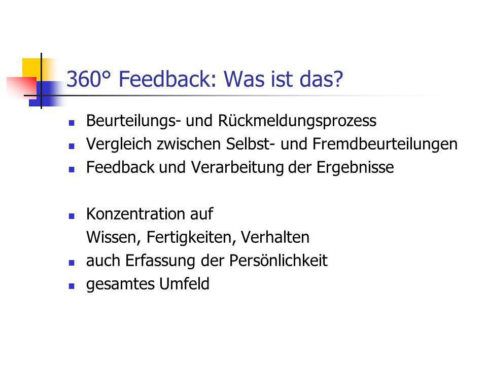 360° Feedback: Was ist das Beurteilungs- und Rückmeldungsprozess