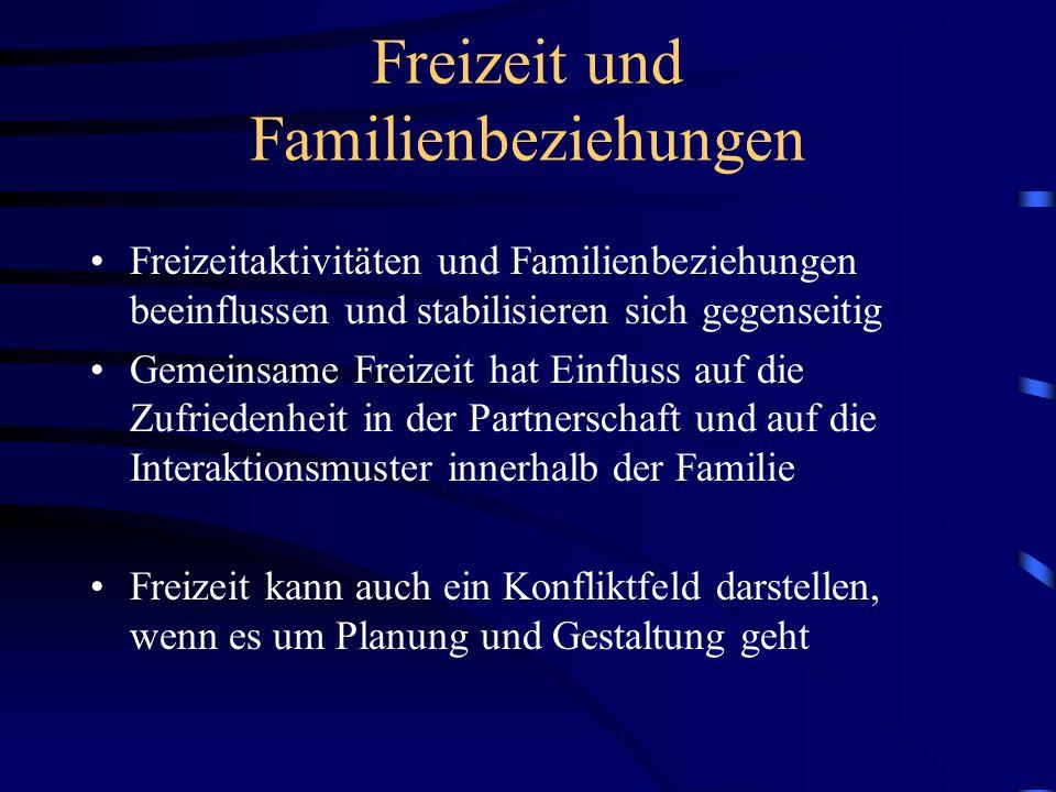 Freizeit und Familienbeziehungen