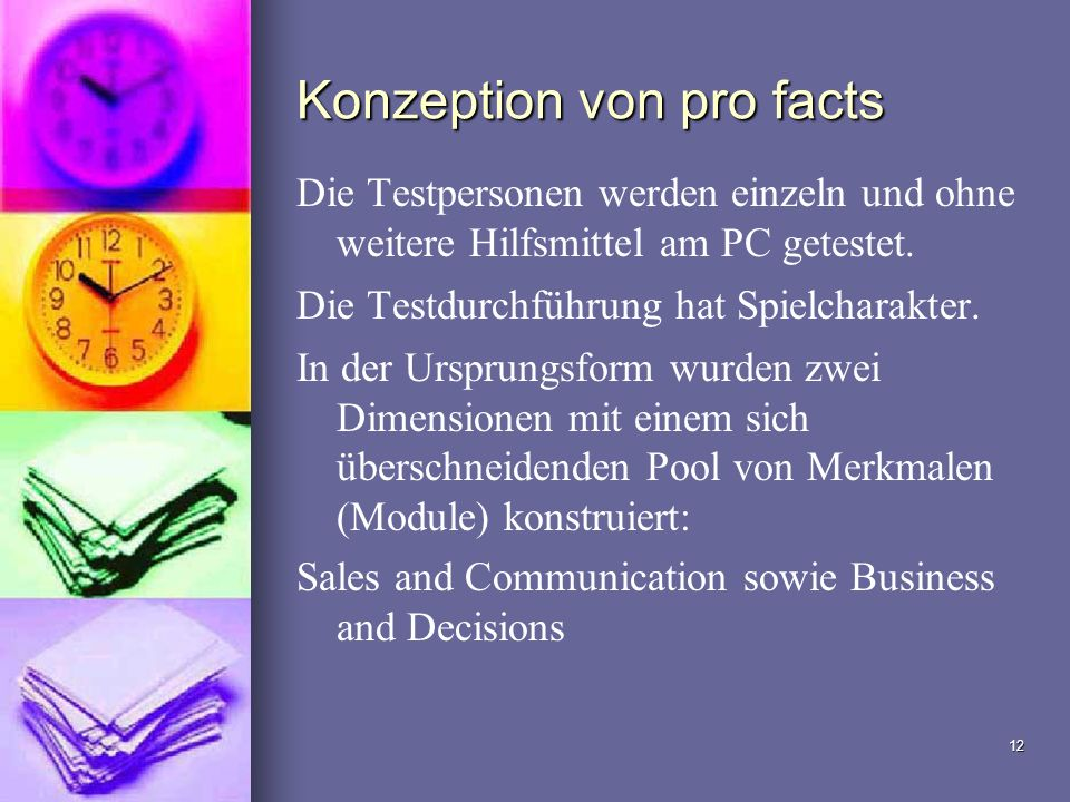 Konzeption von pro facts