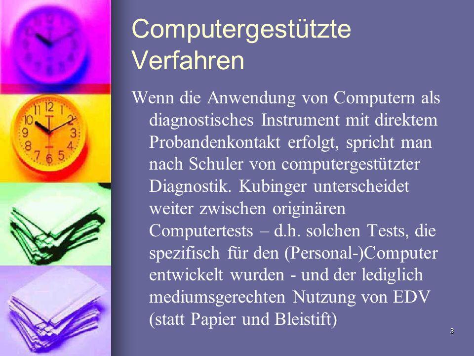 Computergestützte Verfahren