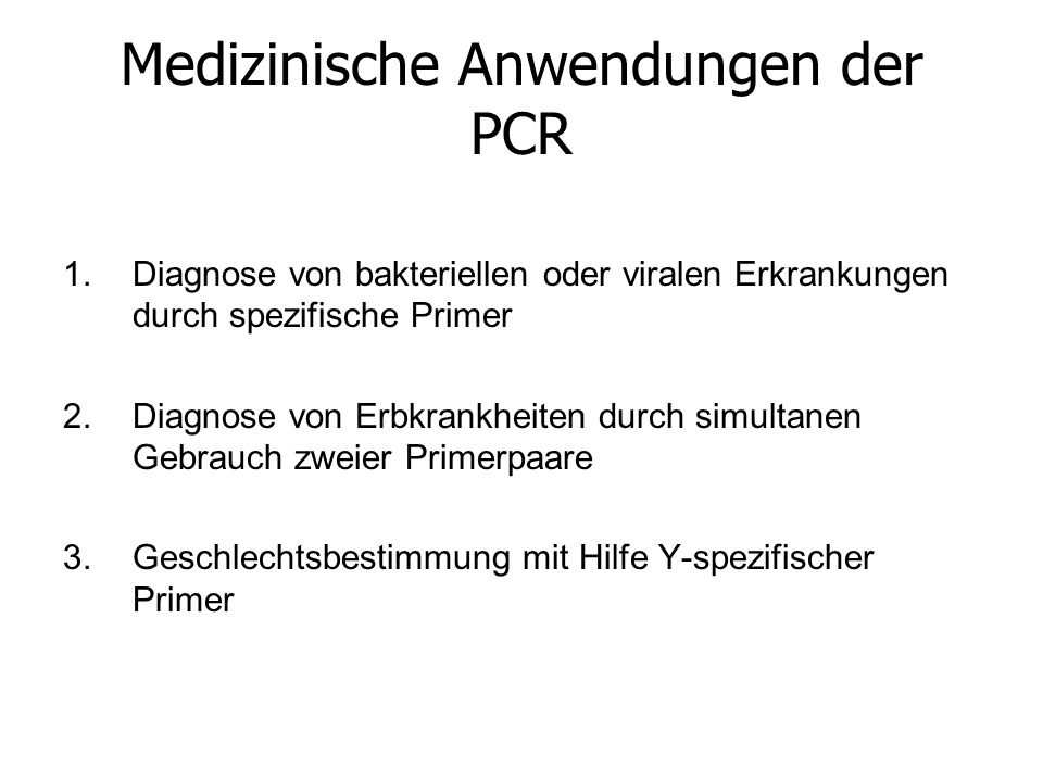 Medizinische Anwendungen der PCR