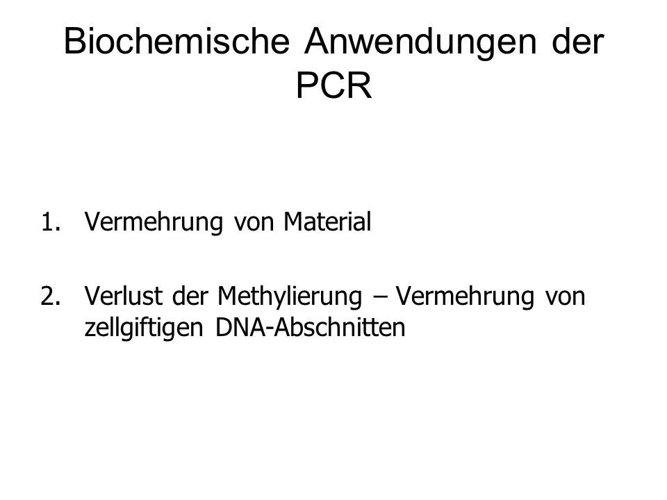 Biochemische Anwendungen der PCR