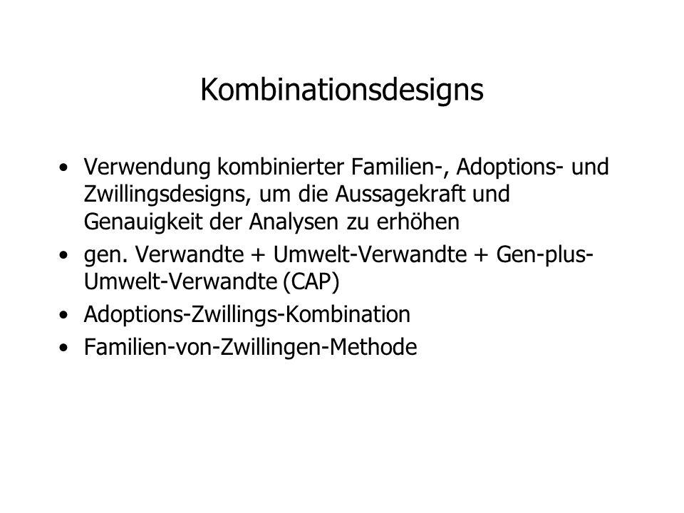 Kombinationsdesigns Verwendung kombinierter Familien-, Adoptions- und Zwillingsdesigns, um die Aussagekraft und Genauigkeit der Analysen zu erhöhen.