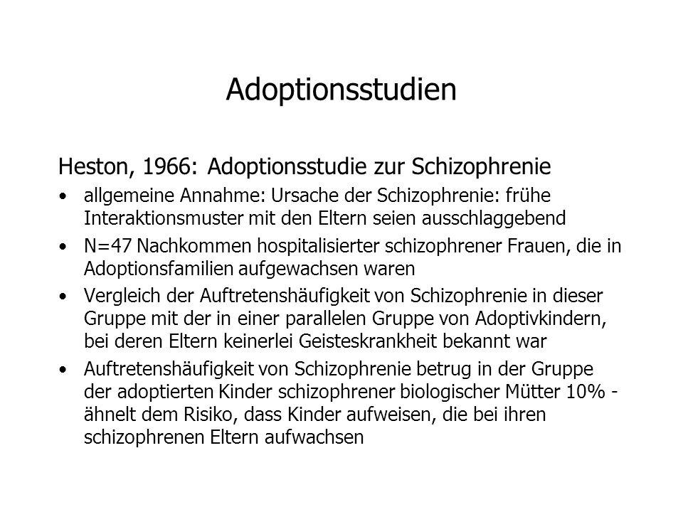 Adoptionsstudien Heston, 1966: Adoptionsstudie zur Schizophrenie