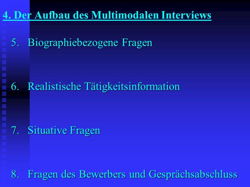 4. Der Aufbau des Multimodalen Interviews