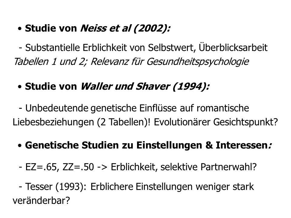 Studie von Neiss et al (2002):