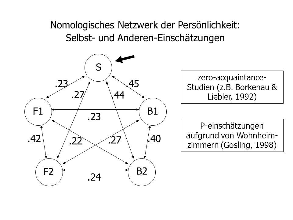 Nomologisches Netzwerk der Persönlichkeit: