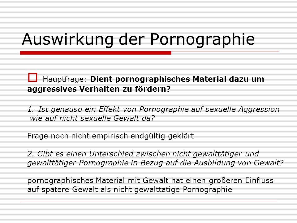Auswirkung der Pornographie
