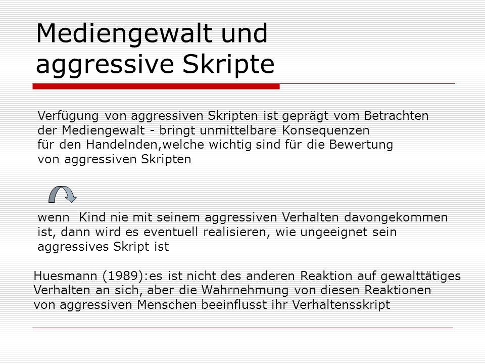 Mediengewalt und aggressive Skripte
