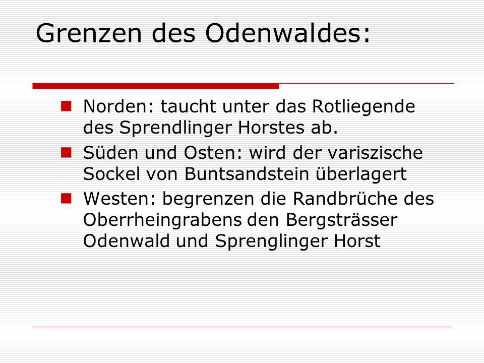 Grenzen des Odenwaldes: